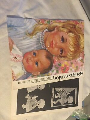Vintage Doll Catalogs lot of 2 scrapbook craft decoupage jolly doll goldberger