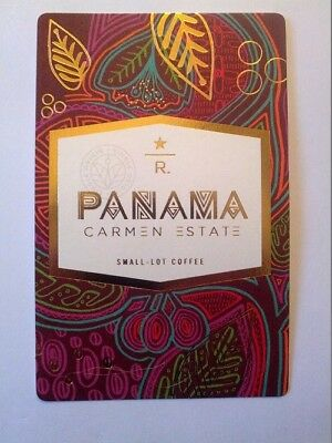 Starbucks Reserve Coffee Taster Card PANAMA Carmen Estate (2017)