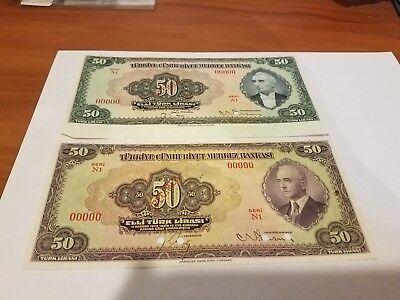 two specimen notes rare unc