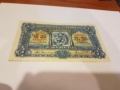portuguese india 1 rupia 1924 XF great embossings