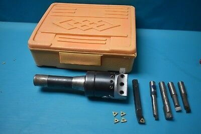 """Used Boring Head R8 1/2"""" Hole With Boring Bars 1/2"""""""