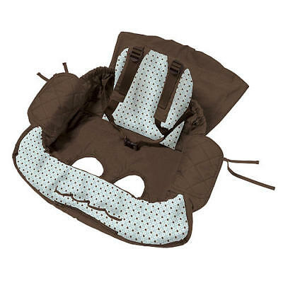 Eddie Bauer Baby Shopping Cart High Chair Cover Unisex Convert To Tote Brown