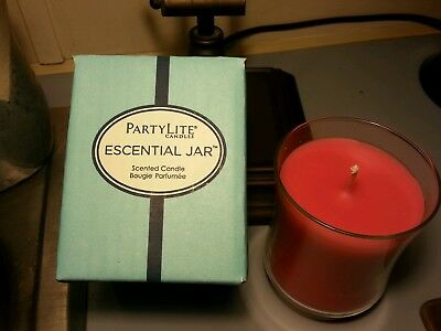 PARTYLITE TROPICAL FLOWER SCENTED ESSENTIAL JAR Candle  NIB