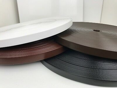 PVC Webbing Black-White-Brown - 13mm, 16mm, 19mm or 25mm Wide