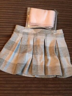 Baby Girl Skirt 6-9 Month With New Tights