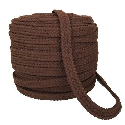 Braided Cotton 25mm - 1 inch wide - BROWN - Perfect for Horse Reins