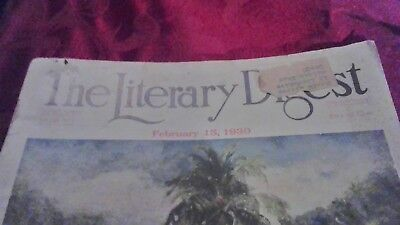 A vintage1930 edition of Literary Digest magazine based out of New York, NY.
