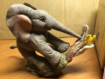 Tuskers Adventures Of Henry 90818 Banana Drama Elephant Sculpture Figurine