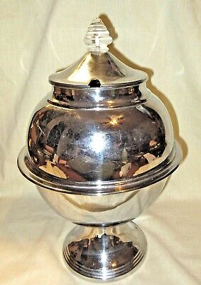 Vintage 1936 Lehman Brothers Chrome Art Deco Punch Bowl/Soup Tureen