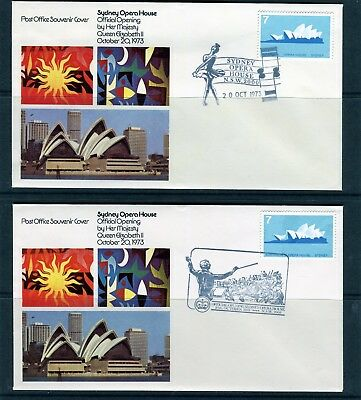 1973 Sydney Opera House Opening Set Of 2 Souvenir Covers, Very Good Cond