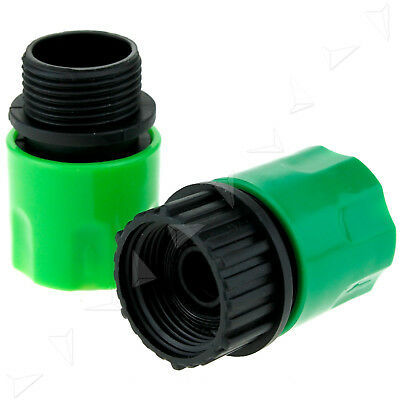 2x Garden Stretch Hose Adaptors Connector Fitting Quick Connect Tap/Spray