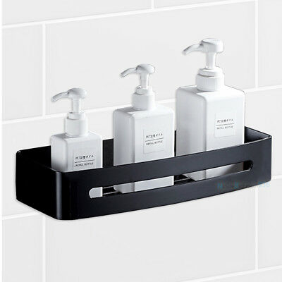 Matt Black Stainless Steel Square Shower Caddy Storage Holder Bath Shelf Layer