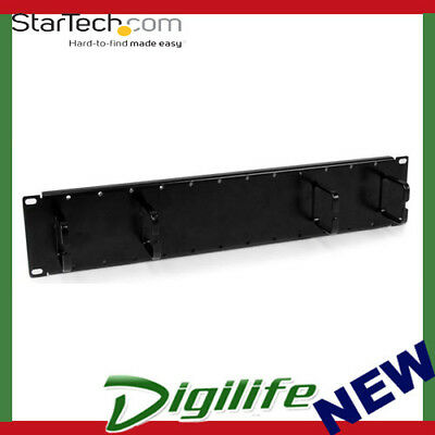 StarTech 2U Double Sided Horizontal Cable Management Panel CMPNL2U