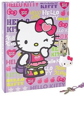 Sanrio Hello Kitty Girly KT Diary Notebook with Key Lock 288 Pages