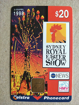 $20 1998 Sydney Royal Easter Show Phonecard 98020040P Exp 06/2000