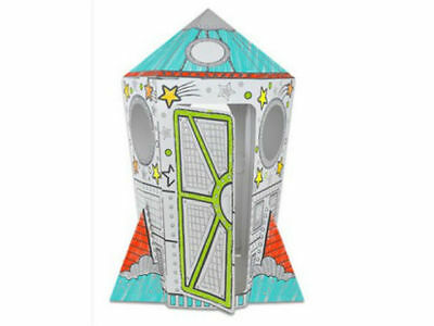 Cardboard Cubby House - Rocket Playhouse - Activities for kids