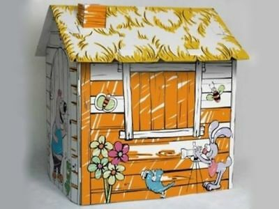 Cardboard Cubby House - Farm House Playhouse - Activities for kids