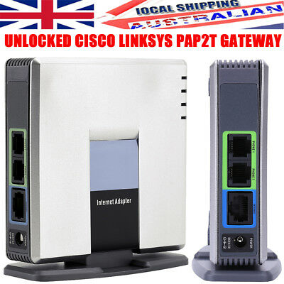 UNLOCKED CISCO LINKSYS PAP2T PAP2T-NA SIP VOIP Phone Adapter 2 Port Gateway