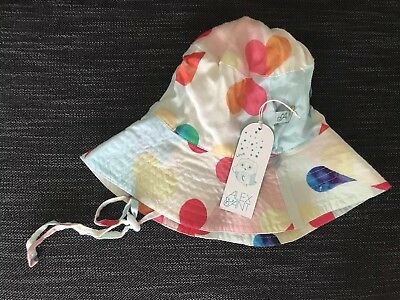 Baby Girls Summer Heart Design Hat. BNWT From Alex And Ant.