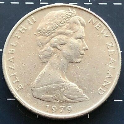 1979 New Zealand 10 Cent Coin