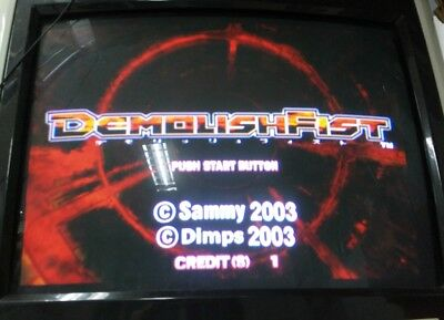 Demolish Fist With Atomiswave Mother Board Jamma Arcade Game Sammy Dimps 2003