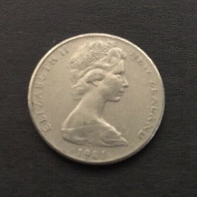 1981 New Zealand 10 Cent Coin
