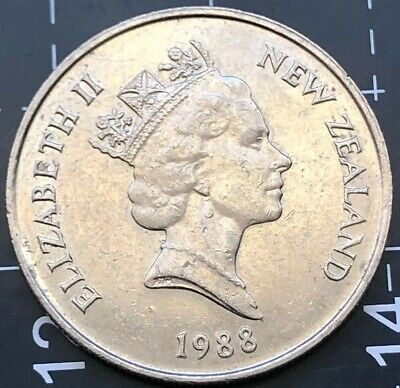 1988 New Zealand 10 Cent Coin