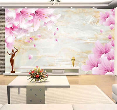 Pilpy Pink Peach 3D Full Wall Mural Photo Wallpaper Printing Home Kids Decor
