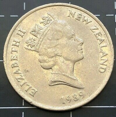 1989 New Zealand 10 Cent Coin