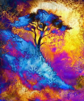 Modern Tree Abstract Painting leaves wall Canvas Home Decor Print Artwork