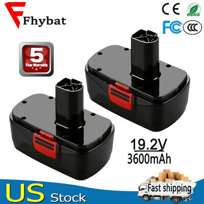 Upgraded 3600mAh For Craftsman 19.2V Diehard C3 Battery 1323903 130279005 2Pack