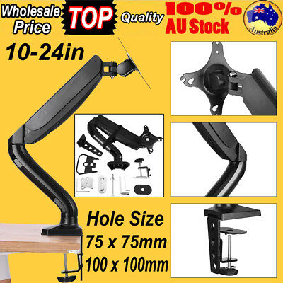 Single Dual Arm HD LCD Desk Mount Monitor Stand Display Screen TV Gas Spring