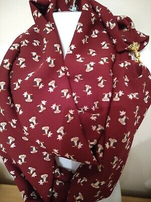 SCARF MAGNETIC with CLASP/FASTENER[ chiffon] ANIMALS(cats,dogs b/fly,owls,birds)