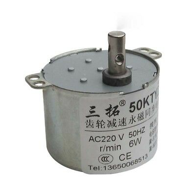 50KTYZ AC220V 6W 50Hz Speed Reducing High Torque GearBox Synchronous Gear Motor