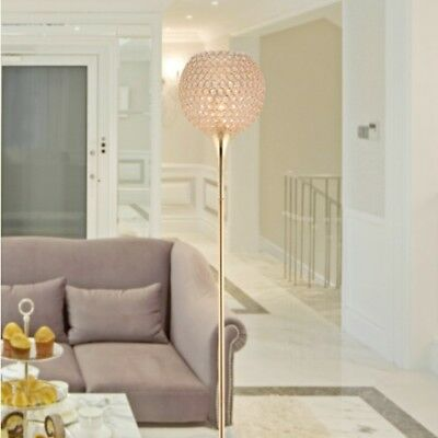 D81 Modern E27 Gold Height 164CM Decoration Crystal Living Room Floor Lamp