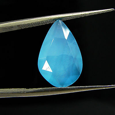 2.75 Ct Natural Blue Chalcedony Loose Faceted Gemstone Beautiful Stone - 10801