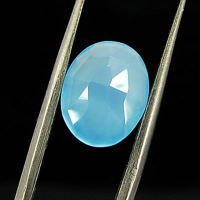 2.20 Ct Natural Blue Chalcedony Loose Faceted Gemstone Beautiful Stone - 10794
