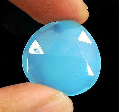 15.90 Ct Natural Blue Chalcedony Loose Faceted Gemstone Beautiful Stone - 10743