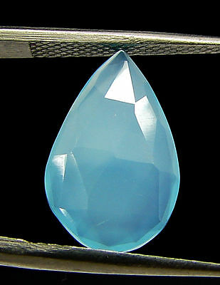 2.75 Ct Natural Blue Chalcedony Loose Faceted Gemstone Beautiful Stone - 10813