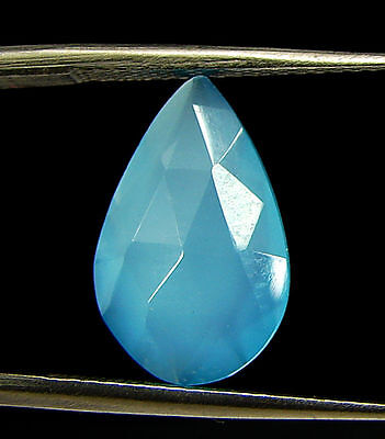 2.70 Ct Natural Blue Chalcedony Loose Faceted Gemstone Beautiful Stone - 10819