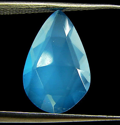 2.50 Ct Natural Blue Chalcedony Loose Faceted Gemstone Beautiful Stone - 10822