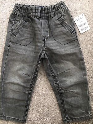 Baby Boys Next Grey Jeans Brand New With Tags 12-18 Months