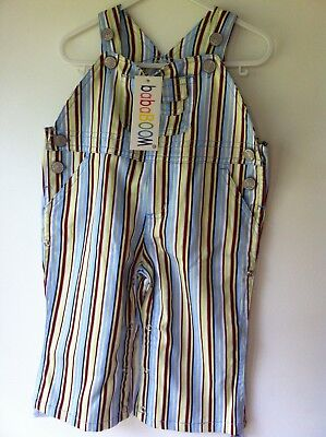 BabaBOOM Gorgeous Unisex Stripey Overalls BNWT