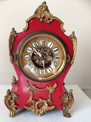 Antique French Boulle Mantel/Sideboard Clock Dead Beat By Farcot Paris Working
