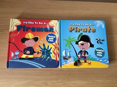 Igloo Books Touch and Feel I'd Like to Be a …Pirate Fireman