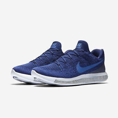 Nike Lunarepic Low Flyknit 2 Men s Running Shoes Size  11 Royal Blue 863779  400 a6043dd734e2