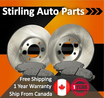 2008 2009 2010 For Ford E-250 Front Disc Brake Rotors and Ceramic Pads