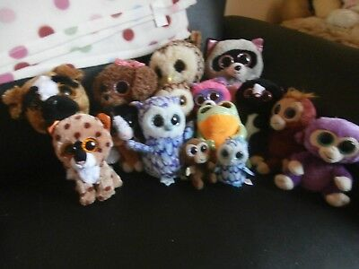 bundle of 15 ty beenie boo plushes