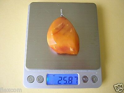Antiker XXL Natur Bernstein Anhänger Dark Butterscotch 25,8 g Old Genuine Amber