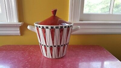 Vintage Rorstrand Picknick Red and White Tureen 1950s Sweden